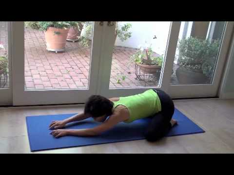 easy yoga  child pose  hip stretch 1 of 5  youtube