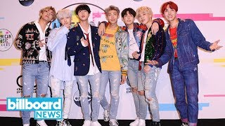 BTS Earns First Top 40 Hot 100 Hit for a K-Pop Group With 'MIC Drop' | Billboard News