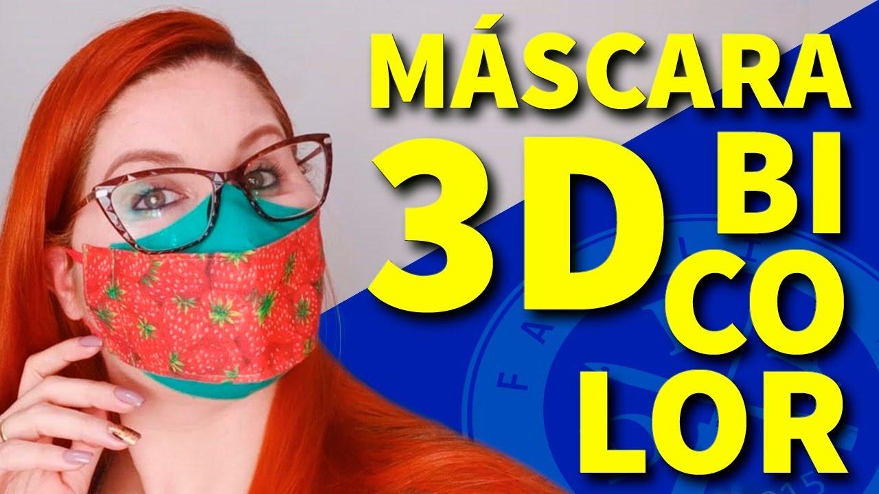 MÁSCARA 3D BICOLOR MOLDE TRADICIONAL - 2 CORES - FAMÍLIA DIY