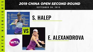 Simona Halep Vs. Ekaterina Alexandrova | 2019 China Open Second Round | Wta Highlights
