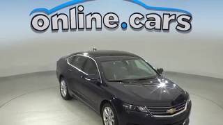 C99959TR Used 2018 Chevrolet Impala LT FWD 4D Sedan Blue Test Drive, Review, For Sale