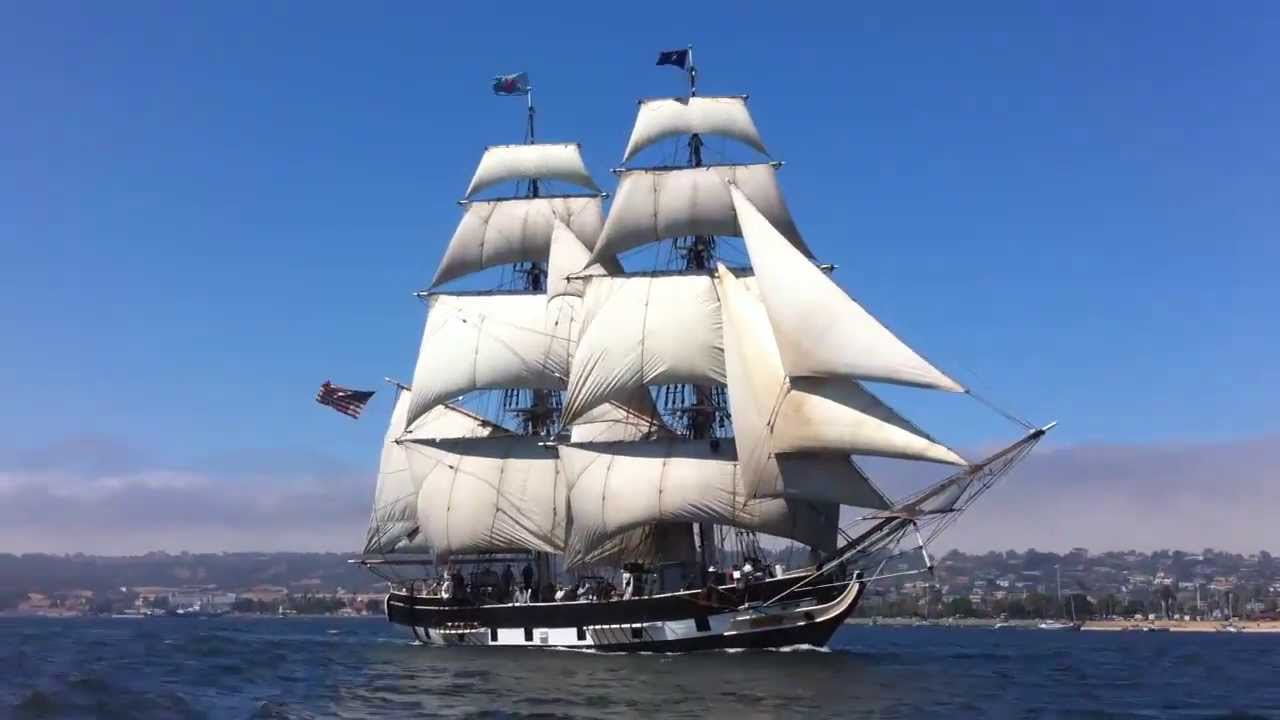Big Sailing Ship At Sail Festival Youtube