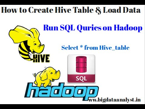 Hive basics - Different ways to Create Table, Load data
