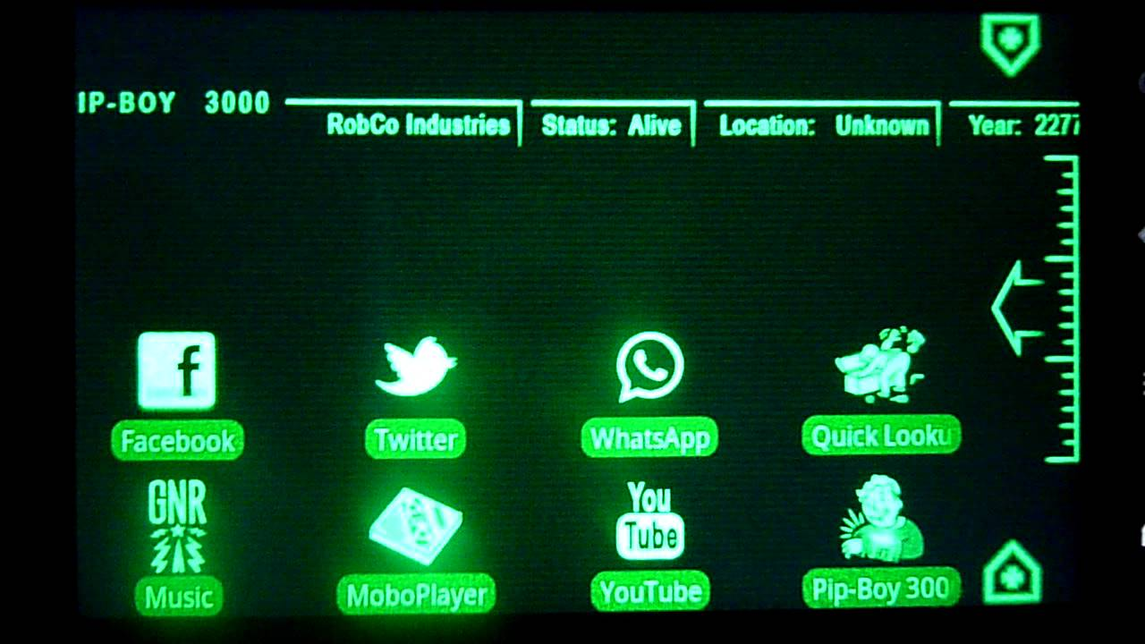 Pip Boy 3000 Theme For Android