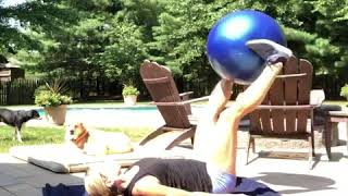 Core Exercises with a Stability Ball