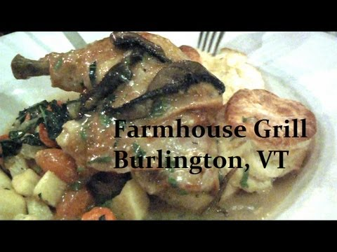 Burlington VT, The Farmhouse Tap & Grill, Raw Beef Tartar, local Chicken, Grass feed beef #foodporn