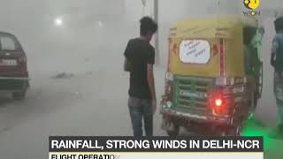 Rainfall, strong winds in Delhi-NCR