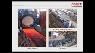 500,000 ton per year, rebar rolling mill, Housing less stands, Pre stressed stands, Universal Housi