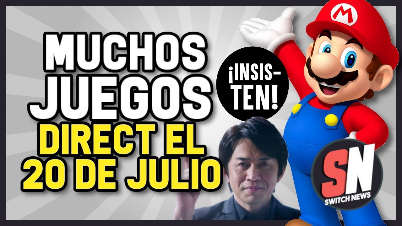 ¡INSISTEN! Nintendo DIRECT el 20 de JULIO con MUCHOS JUEGOS | Paper Mario Análisis CASI PERFECTO