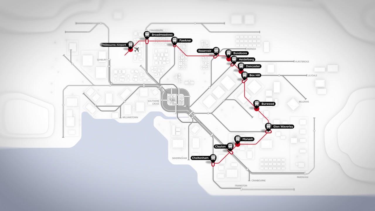 Suburban Rail Loop network map - YouTube