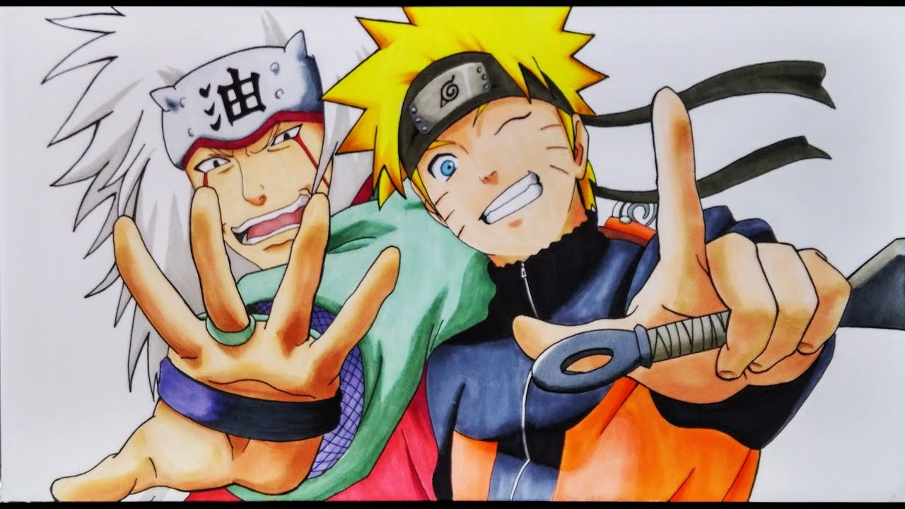 Cómo Dibujar A Naruto Y Jiraiya Artemaster How To Draw Naruto And Jiraiya