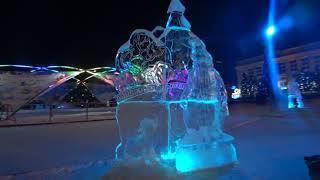 Классные Новогодние ледяные фигуры! Кемерово 2017