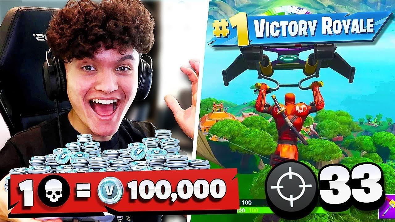 IF YOU WIN FORTNITE, You Buy ANYTHING You Want (1 Win = 100k Vbucks)