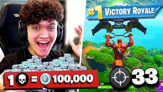 IF YOU WIN FORTNITE, You Buy ANYTHING You Want (1 Win = 100k Vbucks)