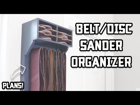 How to keep all of your sanding belts & discs organized