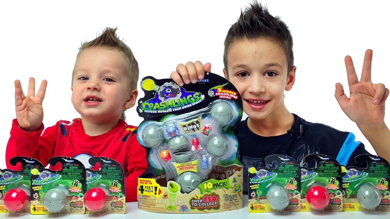 Crashlings Dino Игрушки Динозавры Видео для детей Игры сюрпризы с Динозаврами Летающие Динозавры