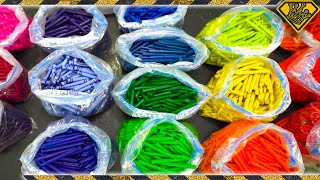 Melting 5,000 Crayons Into One Giant Crayon