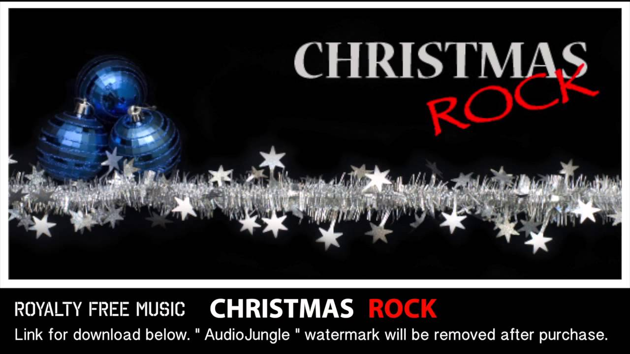 Christmas rock instrumental background music royalty