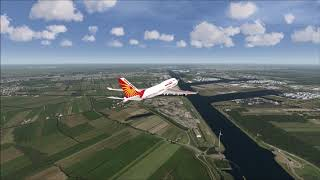 AIR INDIA 747-400 Belly Crash Landing at Amsterdam Airport