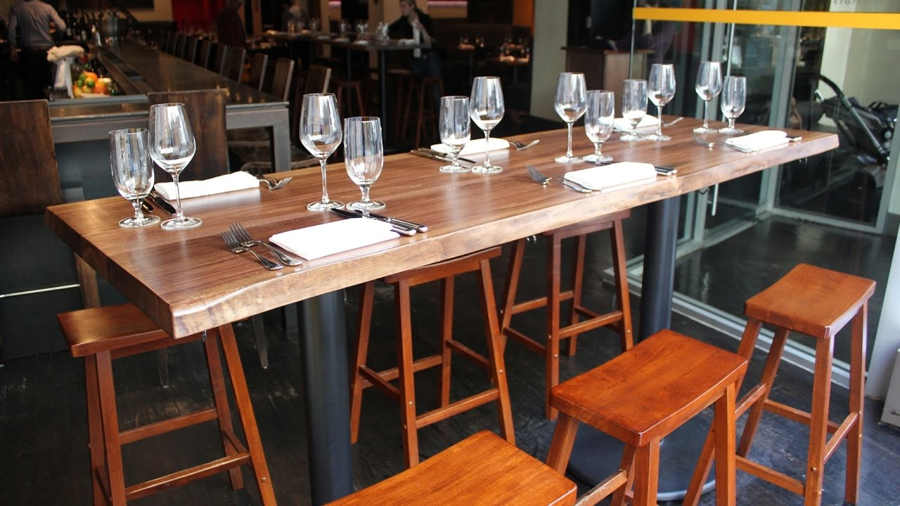 Long Bar Table YouTube - Long bar table with stools