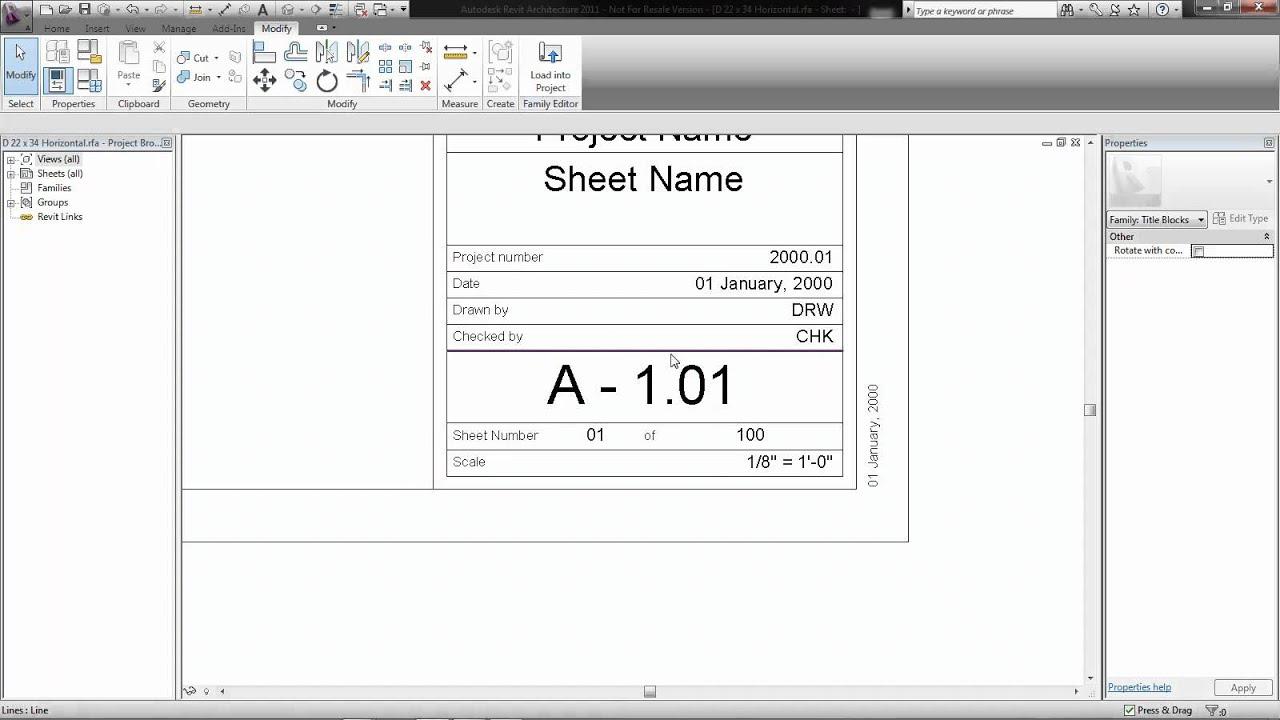 Revit 2012: Creating a Title Block Parameter
