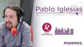 Entrevista a Pablo Iglesias en Canal Extremadura Radio