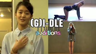 (G)I-DLE members auditions for CUBE Entertainment (pre-debut)