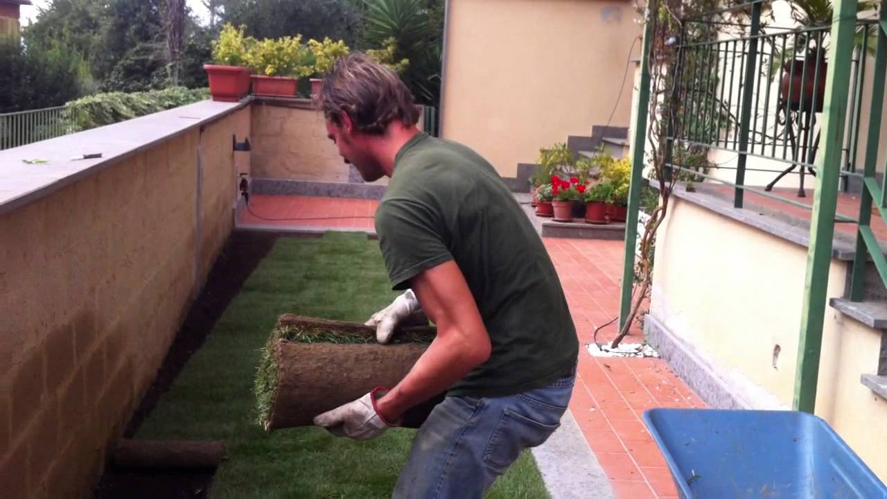Realizzare Prato Su Cemento realizzazione prato a rotoli (lavorazioni necessarie)