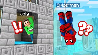 Playing SPIDERMAN HIDE And SEEK In MINECRAFT! (Funny)
