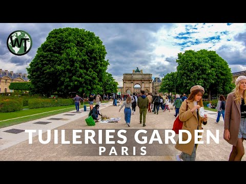 Paris - Tuileries Gardens - Walking Tour〚𝟒𝐊〛🇫🇷 France