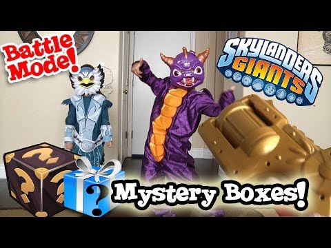 MYSTERY BOXES From Activision! Skylanders Costumes & REAL LIFE BATTLE MODE!