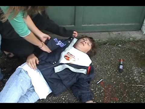 On the sidewalk bleeding trailer - YouTube