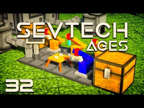 SevTech: Ages EP32 Wireless Crafting Grid +Pneumaticcraft Assembly Line