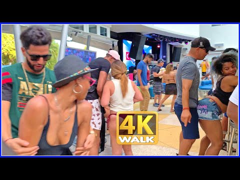 【4K】WALK OCEAN DRIVE walking tour South Beach Miami Beach 4k