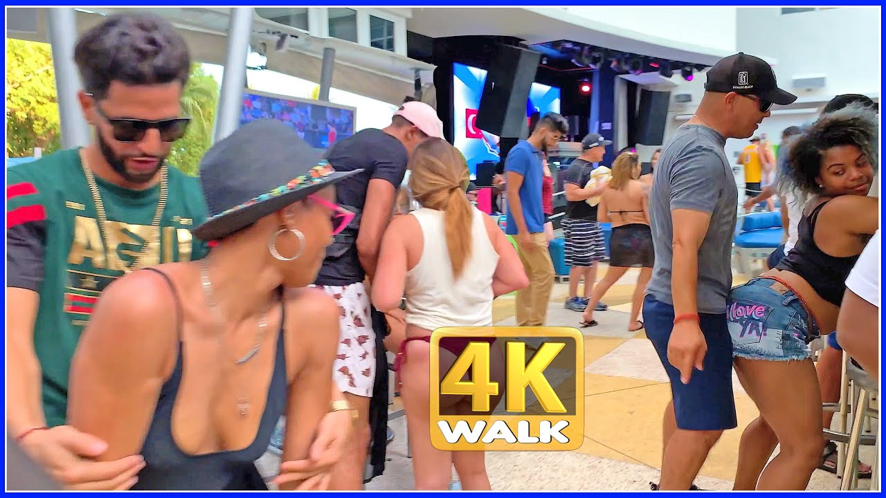 Download 【4K】WALK OCEAN DRIVE South Beach Miami Florida 4k video USA