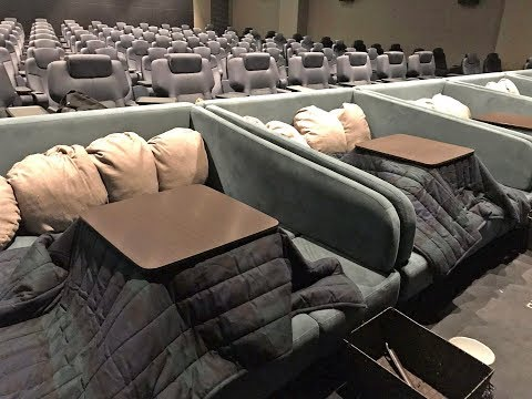 Cosy cinema in Japan has heated tables and blankets you can snuggle up in