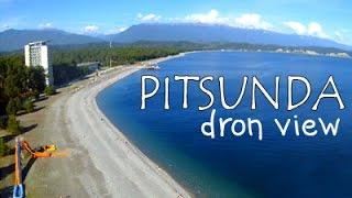 Pitsunda Abkhazia. Dron view