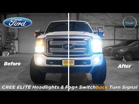Ford F250 CREE ELITE LED Headlights + Foglights & Switchback Turnsignal