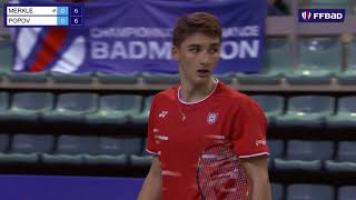 Championnat De France De Badminton 2020  Finale Simple Hommes