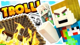 BURNING MY GIRLFRIENDS HOUSE DOWN TROLL!! - Pixelmon