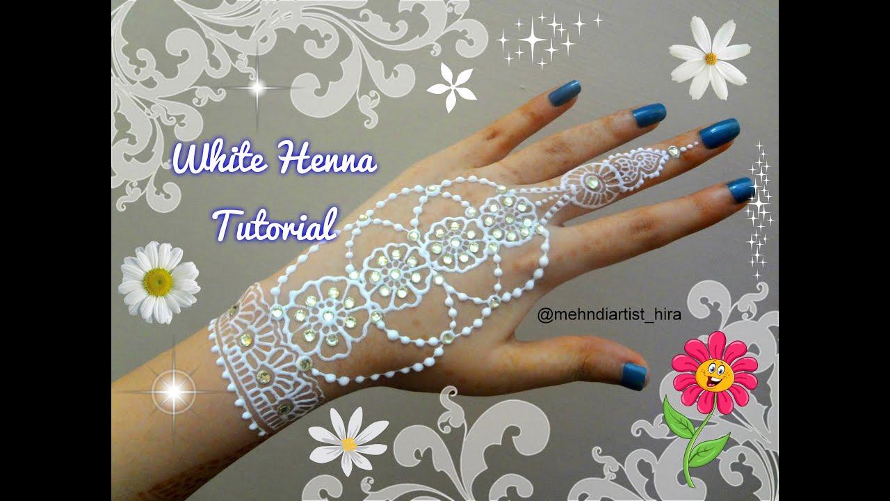 White henna design 5 five white henna designs - Diy Beautiful White Henna White Body Paint Mehndi Design Tutorial 2016 Youtube