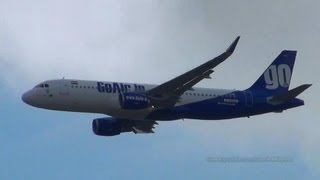 First GoAir Airbus A320 with Sharklets VT-GOW MSN5552 low approach at Hamburg Airport