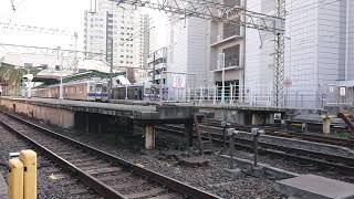南海高野線 北野田駅 6000系(6003+6033編成)区急なんば行 発車
