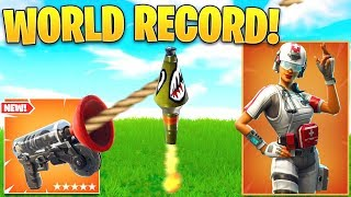 *WORLD RECORD* Fastest Ground To Max Height w/ GRAPPLER! (Fortnite Best Moments 263)