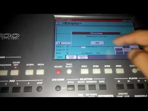 Korg pa600 qt sampling mode