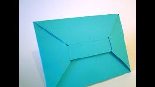 Origami Envelope. Sobre con faja al centro . Конверт для подарков - оригами - Easter