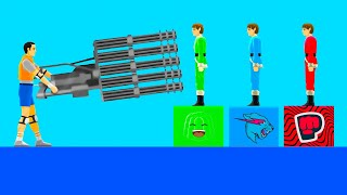 I Tried EXTREME YOUTUBER LEVELS In Happy Wheels!