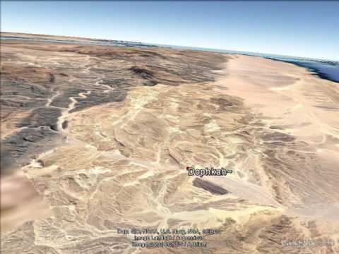 Google Earth-Traditional Exodus Route