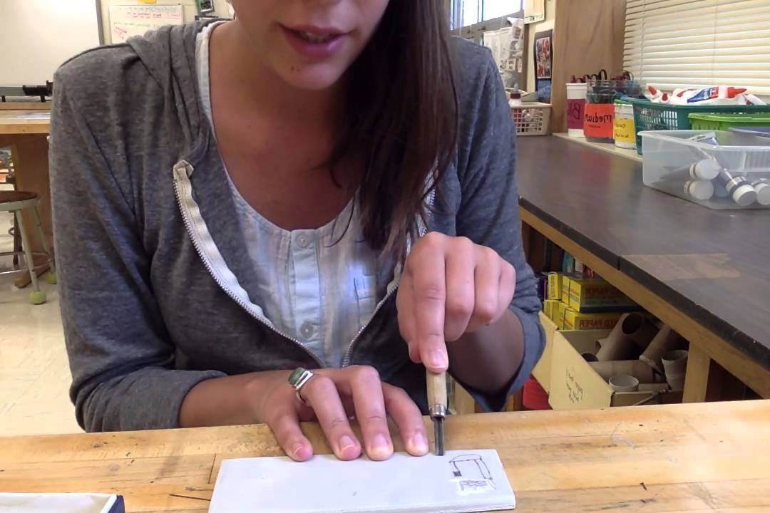 how to use linoleum cutting tools -