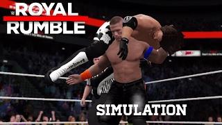 wwe 2k17 simulation john cena vs aj styles royal rumble 2017 highlights